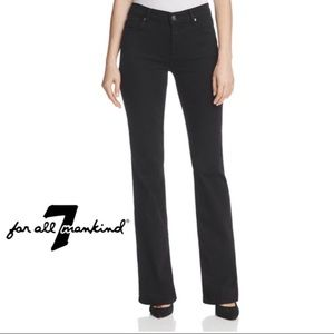 7 For All Mankind Boot Cut Jeans Black 27
